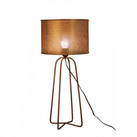 Lampe cylindre en laiton Chehoma
