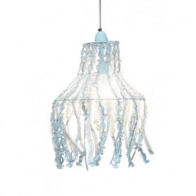Hanging lamp Medusa blue metal Chehoma