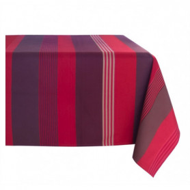 Tablecloth in coated fabric OTTOMAN GRENADE