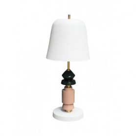 Ceramic table lamp Serena with shade Chehoma
