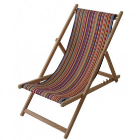 Deckchair Tom multicolore Les Toiles du Soleil