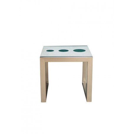 Iron & marble side table Domino Chehoma