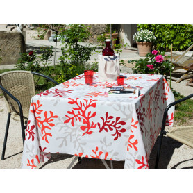 Coated fabric CORAIL ROUGE