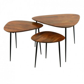 Set Of 3 Side Tables Axio Pomax