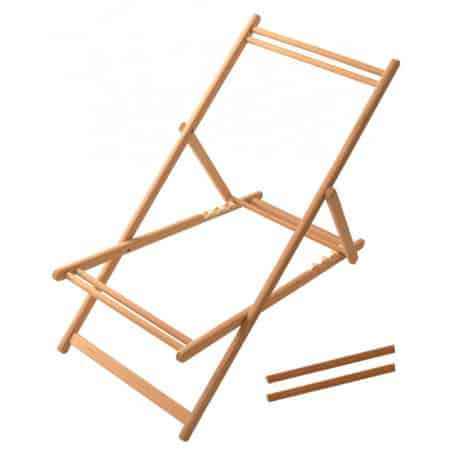 Deckchair structure without fabric