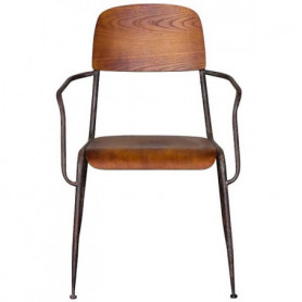 Wood and metal chair faculty Chehoma
