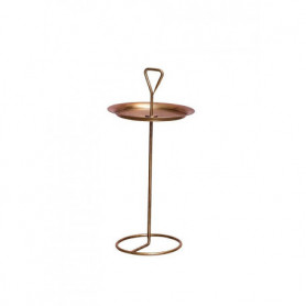 Tray table with handle brass patina Chehoma