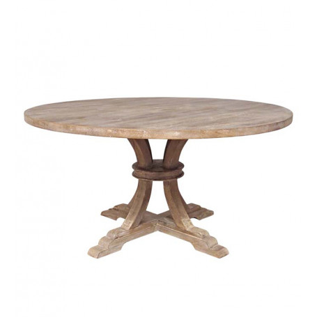 Table ronde bois Valbelle Chehoma