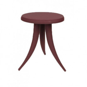 Burgundy side table Piovra Chehoma
