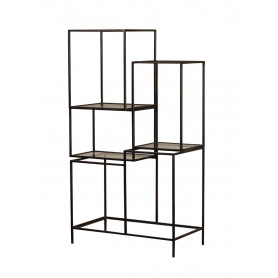 Asymetric Iron and Glass Shelf Chehoma