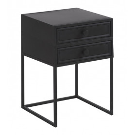 Bedside Table 2 drawers York Athezza