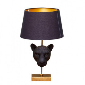 Chehoma Black tiger lamp on golden stand