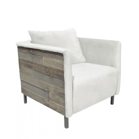 Fauteuil Fjord blanc Chehoma