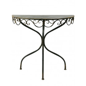 Black rounded console with arabesques Chehoma