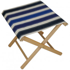 Collapsible stool Sellier marine Les Toiles du Soleil