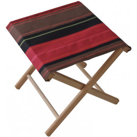 Collapsible stool Tsar red Les Toiles du Soleil
