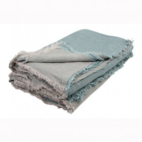 Maison de vacances Crumped washed Fringed Throw linen