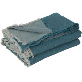 Crumpled washed Throw linen
