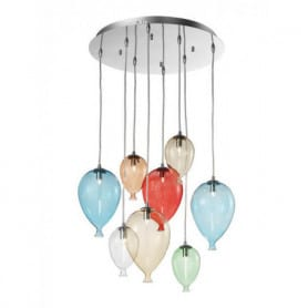 Ideal Lux Clown colour Pendant Light