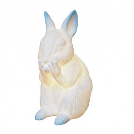 Lampe porcelaine Lapin Chehoma