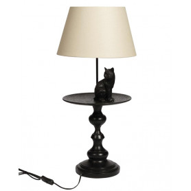 Lamp with Cat on Stand Chehoma