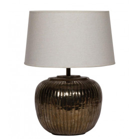 Table lamp oxidized nickel Cicave Chehoma