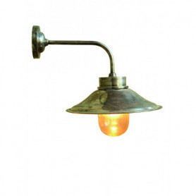Lampe extérieure coude droit nickel chehoma