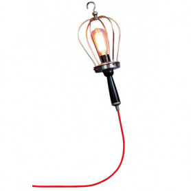Chehoma Walking lamp nickel and cable red fabric