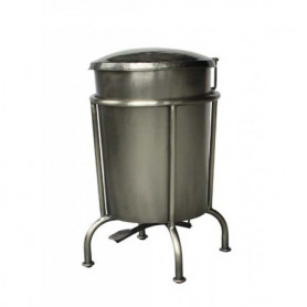 Metal dustbin on stand Chehoma