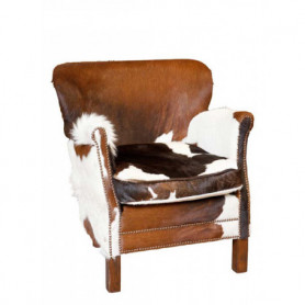 Armchair Club Turner cow skin