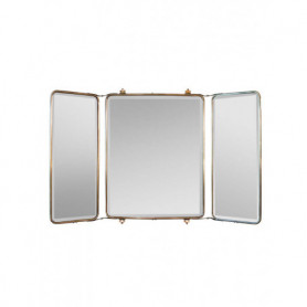 Miroir tryptique 3 faces patine nickel Chehoma