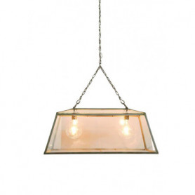 Double greenhouse pendant light fitting