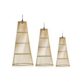 Athezza 3 x Conical bamboo lamp shade