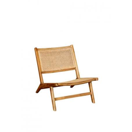 Wdn and canework armchair Chehoma
