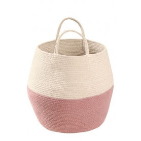 Panier Zoco rose naturel Lorena Canals