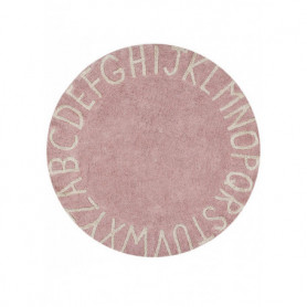 Lorena Canals : Round Rug ABC vintage nude natural