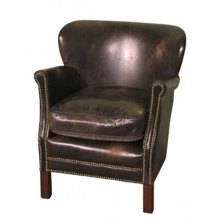 Fauteuil cuir Turner Camden Chehoma