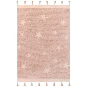 Lorena Canals Tapis Hippy Star rose nude