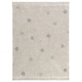 Tapis lavable Hippy Dots olive Lorena Canals