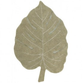 Tapis lavable Monstera olive Lorena Canals