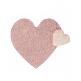 Tapis Bubbly Amour rose coeur Lorena Canals