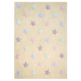 Lorena Canals Rug tricolor Stars