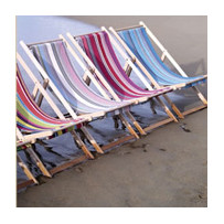 Deckchairs and beach umbrellas