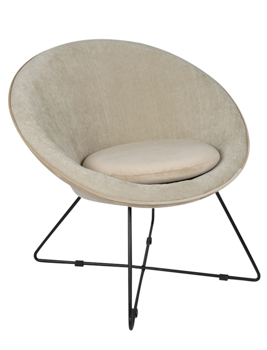 fauteuil garbo blanc pomax