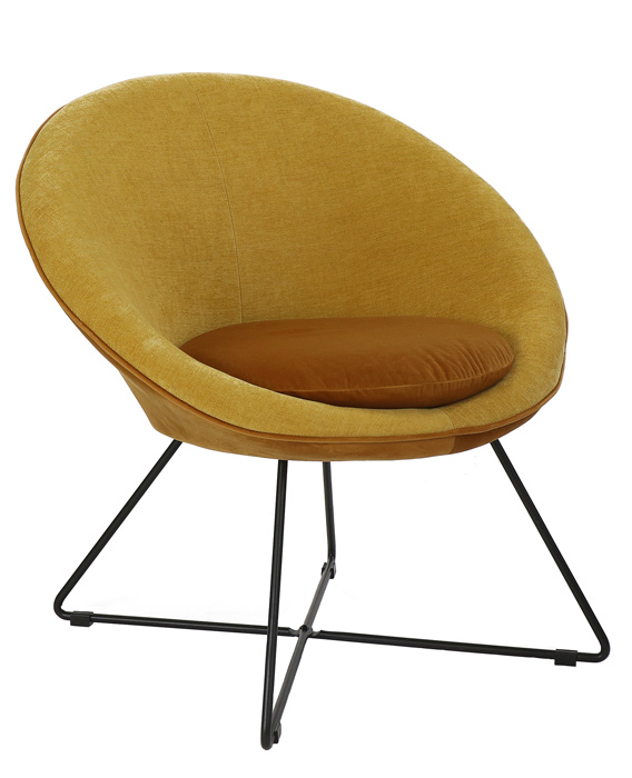 fauteuil garbo ocre pomax